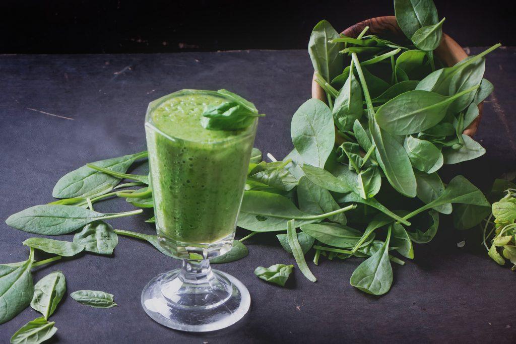 Grön protein-smoothie
